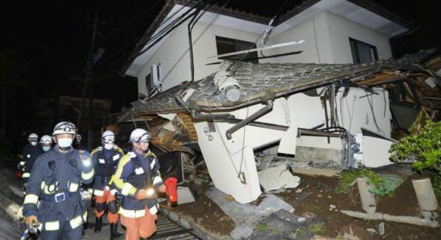 https://flic.kr/p/GhViMX | japan_quake_nocredit-varietis.news mn majed. | Southern island of Kyushu in Japan, a powerful earthquake has killed nine people. Araisora more people were injured.