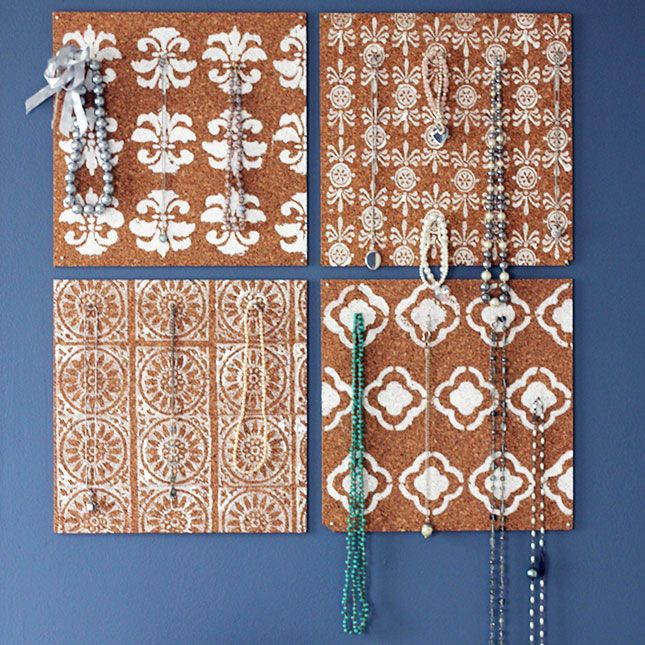 Cork Board Panel Display | 30 Clever Ways to Keep Your Jewelry Organized