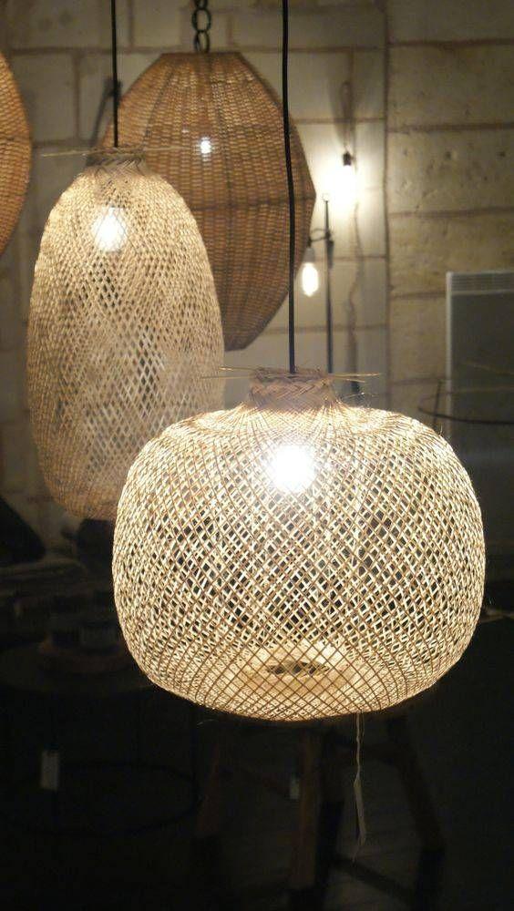 Bloomingville Lampe Suspension Bambou Naturel O42xh30cm