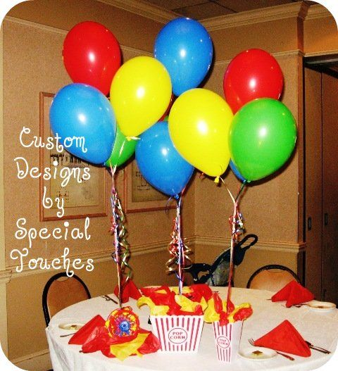 Circus Balloon Centerpiece : Best images about circus on pinterest themed parties