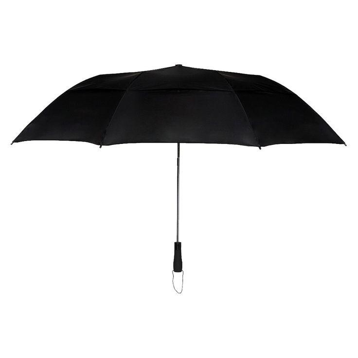 Futai Vented Compact Umbrella - Black