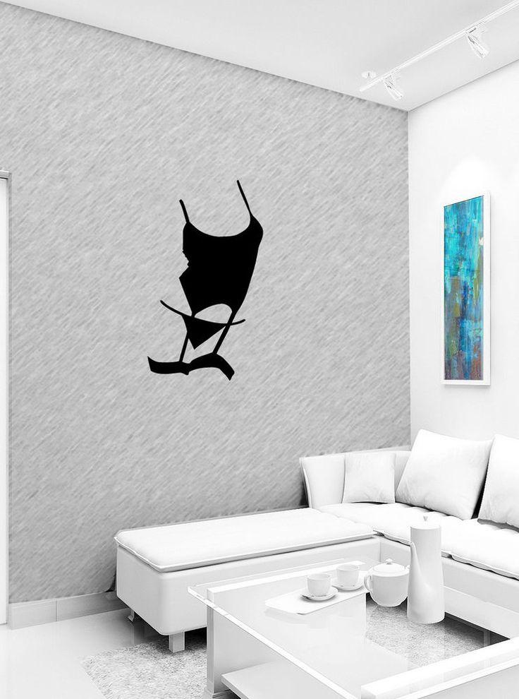 SEXY HOT BIKINI GIRL WALL VINYL STICKER  DECALS ART MURAL B122 #MuralArtDecals