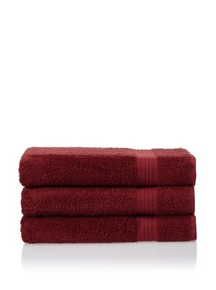 55% OFF Savannah by Chortex 3 Piece Bath Sheet Set, Claret