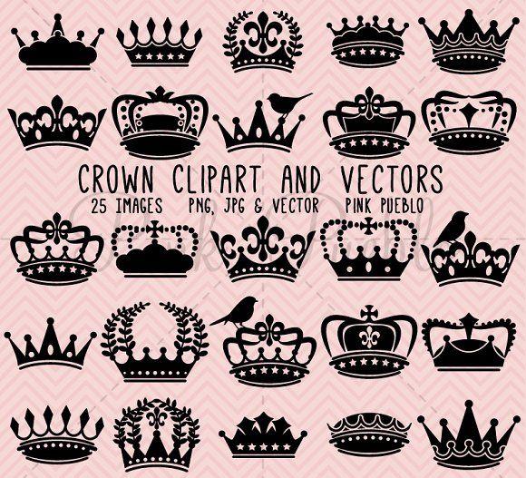 Crown Clipart And Vectors Crown Silhouette Clip Art Crown Clip Art