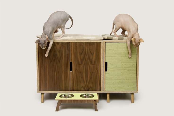 Modernist cat mid century modern cat furniture litter box cover for pets pinterest - Modern cat litter box furniture ...