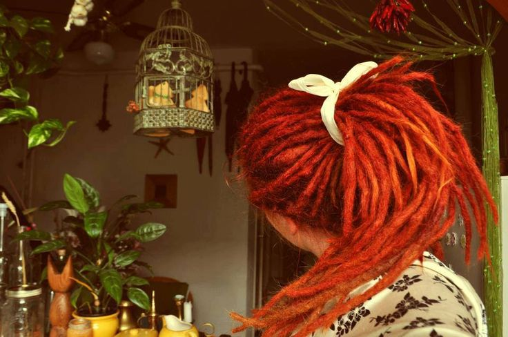 Gorgeous. if i had dreads they would look like this!!!!! #redhead #dreadheads