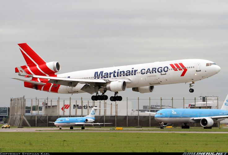 McDonnell Douglas MD-11CF, Martinair Holland, PH-MCS, cn 48618/584, 393 passengers/cargo, first flight 3/1995, Martinair delivered 3.4.1995. Foto: Amsterdam, Netherlands, 22.6.2011.