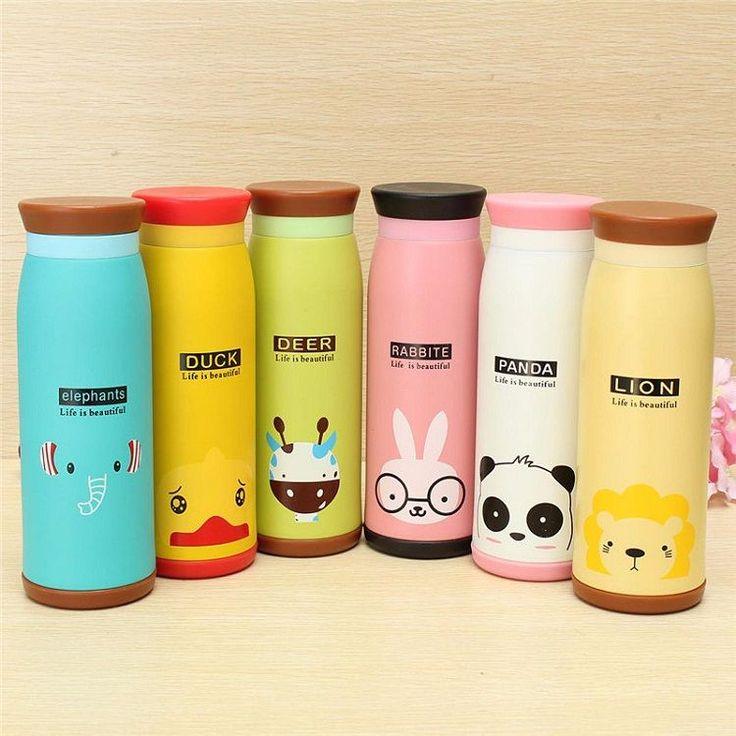 Botol Thermos Lucu Colourful Cute Cartoon 500ml Tokonik