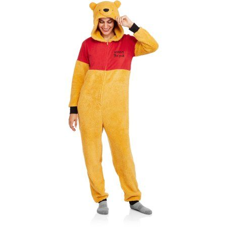 Winnie the Pooh Women's and Women's Plus License Sleepwear Adult Onesie Costume Union Suit Pajama (Sizes XS-3X) - Walmart.com