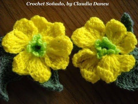 """BASKET OF GOLD"" CROCHET FLOWER / ""CESTO DE ORO"" FLOR CROCHET"