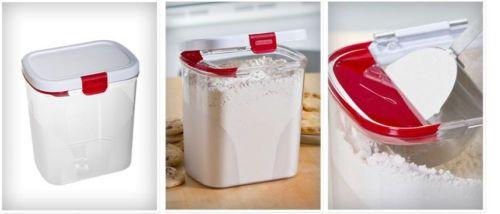 Flour/Sugar Keeper by Progressive holds 5lbs bag of flour or sugar DKS-100