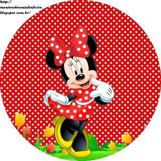 <center>Kit digital grátis para imprimir Minnie Vermelha</center> | Montando minha festa