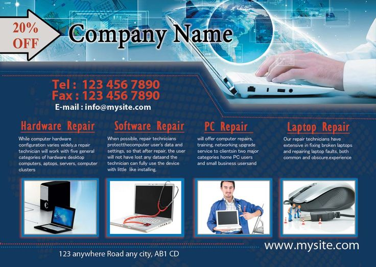 Get best professional computer repair flyers designing and ...