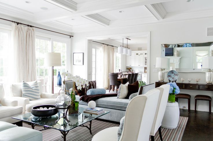 Living room via houzz for the home pinterest houzz for Hamptons beach house interiors