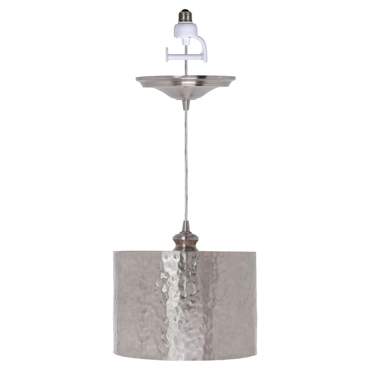 Have to have it. Worth Home Products Instant Pendant Light with Hammered Drum Shade - $95.97 @hayneedle