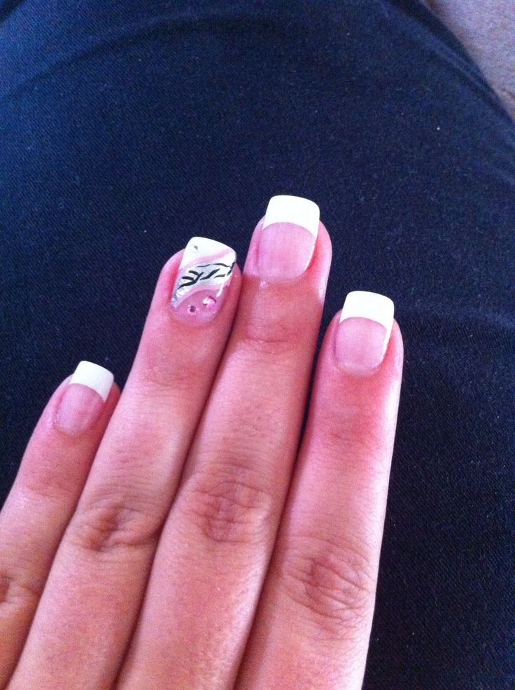 French nail art. Done by Designer nails George