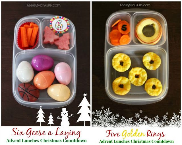 Count down to Christmas with these fun advent lunches! | packed in @EasyLunchboxes containers