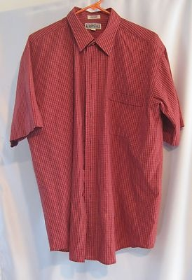 """AEROPOSTALE"" MEN'S RED SZ L BUTTON FRONT SHIRT"