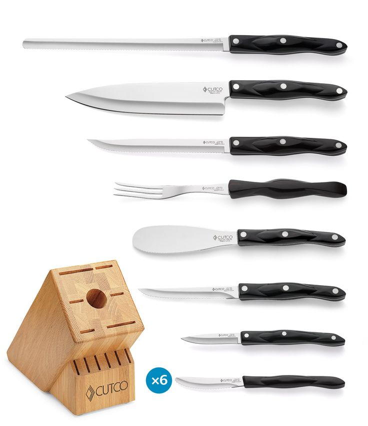 Galley 6 Set With Block Cutco KnivesParing