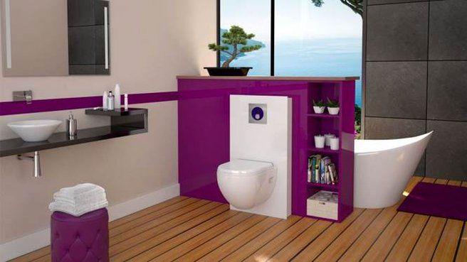Quand les toilettes s installent dans la salle de bains inspiration photos - Couleur mur toilette ...