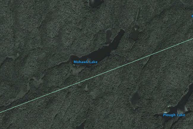 Mohawk Lake, Google Earth