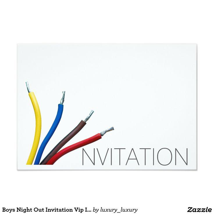 Boys Night Out Invitation Vip Invitation