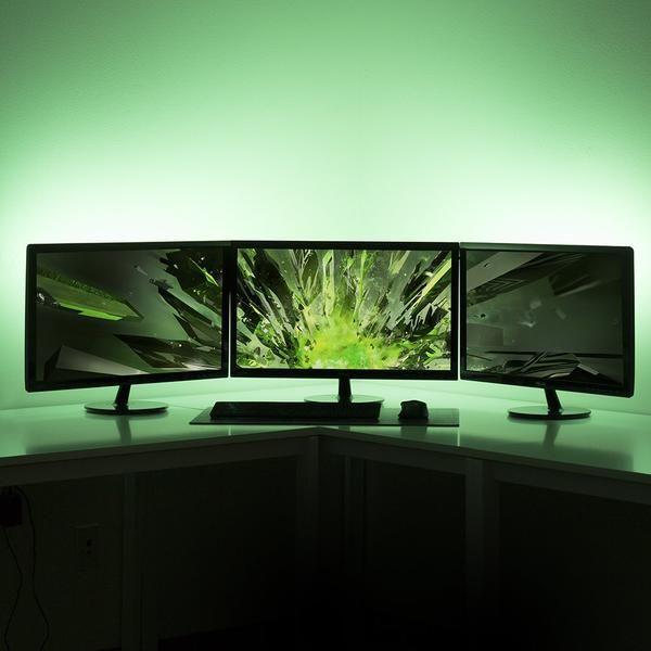 Satechi® 色が変わるUSB帯状LED照明 RGB ネオン アクセント照明キットでお部屋の雰囲気をガラリと一変。