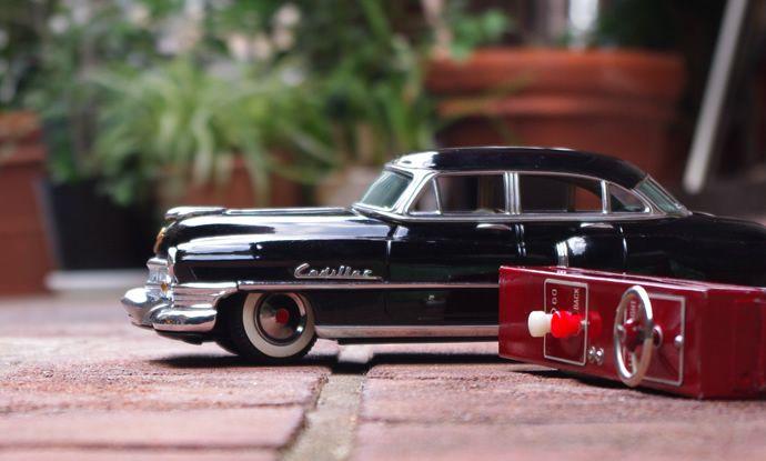 1950s マルサン KOSUGE キャデラック 電動式 オリジナル外箱付き