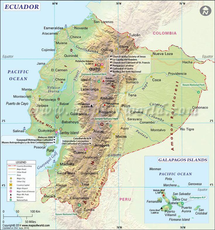Ecuador. Colombia. Peru