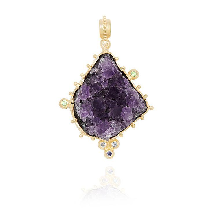 RAW AMETHYST by Kate McCoy #Amethyst #Necklace #Jewelry #Jewellery #Birthstones #Lifestyle #Fashion #Milestone #GiftIdeas