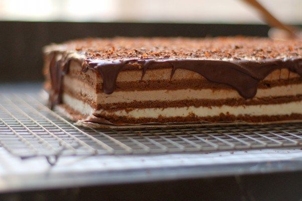 Triple Chocolate Mousse Cake. Ethereally light and intensely chocolatey. Takes three days to make, but totally worth it. From Blossom To Stem | Because Delicious www.blossomtostem.net