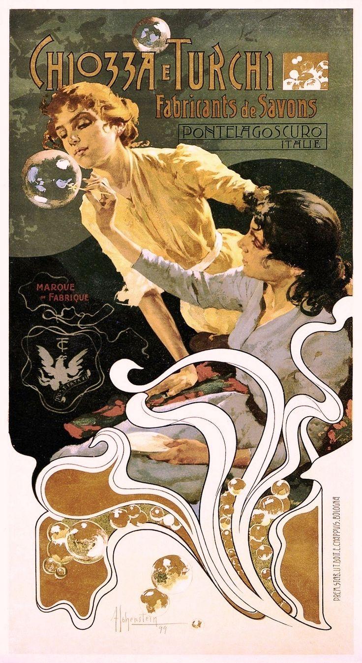 Art - Advertisement - Art Nouveau - Soap Bubbles, Italian