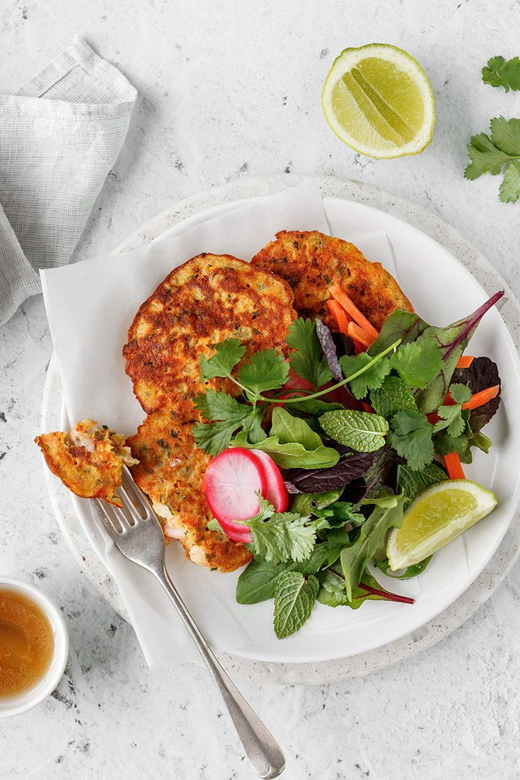 These Thai inspired prawn fritters are fresh and flavoursome thanks to the addition of zesty lime and fresh herbs. Serve…
