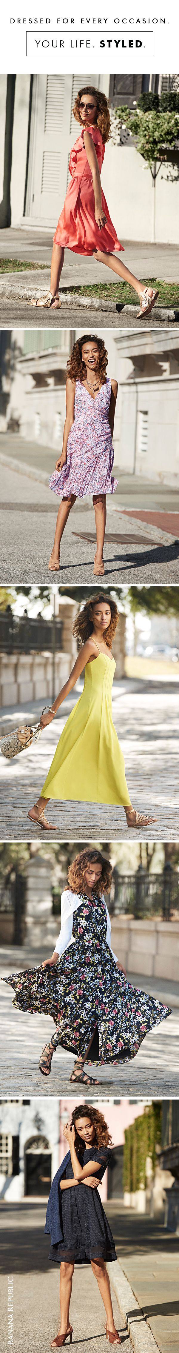 Sometimes a gorgeous, floral, romantic, maxi, colorful, chic, easy dress is all you need. For work, weekend, festivals and getaways Banana Republic is your destination for all things dressy. So many ways to make summer easier, prettier, dressier.