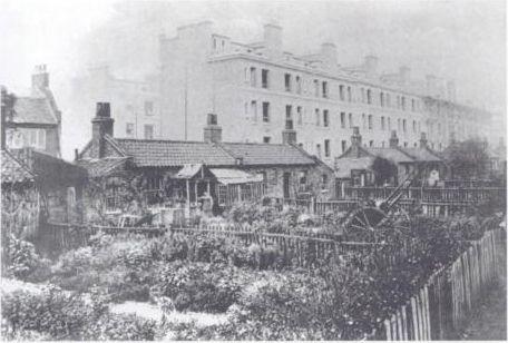 Pettits Walk, Bethnal Green, c 1870. Now Finnis Street