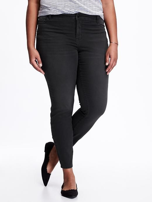 Hi-Rise Plus-Size Rockstar Jeans