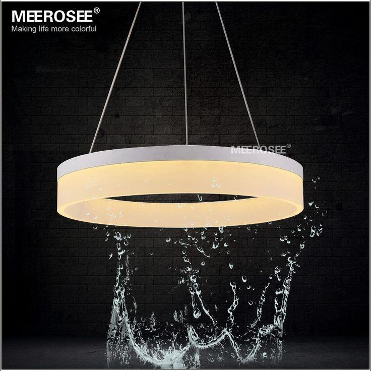 Hot Sale Modern LED Pendant Lights For Bedroom Lamparas Colgantes Hanging Lamp Acrylic Ring Indoor Lighting Suspension Luminaire