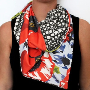 elly nelly organic cotton scarf - poppy