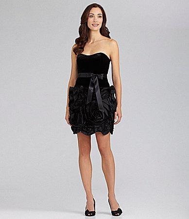 Adrianna Papell Velvet Cocktail Dress #Dillards