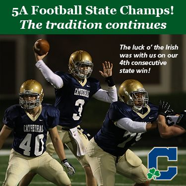 Fourth consecutive state football championship for the Cathedral Fighting Irish!