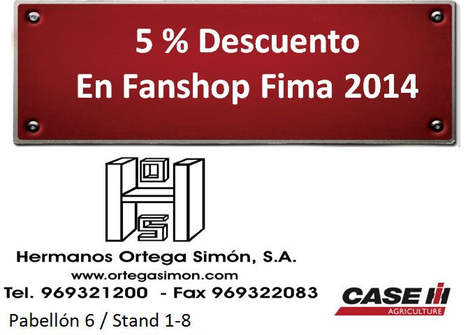 Imprime este cupón, presentalo en Fanshop de Fima-2014 y te hacemos un 5% de descuento.