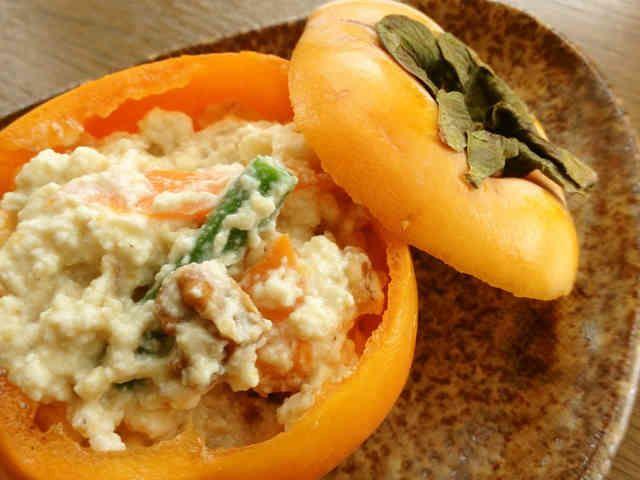 料亭の☆柿の白和えの画像