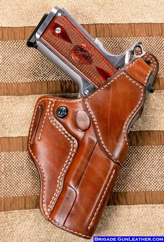 M-1 Hoplon Leather Gun Holster for a Springfield-1911-fbi-leather-gun-holster