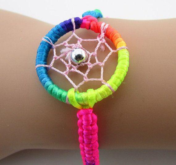 Dream catcher bracelet charm bracelet by blackbeanblackbean, $7.25