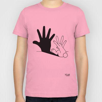 Rabbit Hand Shadow Kids T-Shirt 20.00 Love this.