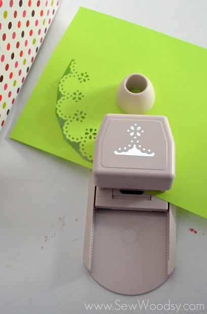paper dollies using  punchs   Using the Circle Edge Punch begin to punch out an 8-inch doily.