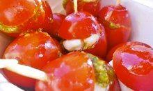 Cherry tomatoes with mozzarella and pesto. Photograph: MarmadukeScarlett via /GuardianWitness
