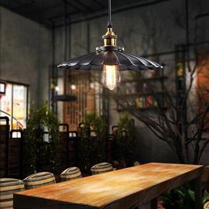 Rétro vintage Suspension Métal Lustre industriel Plafonnier Luminaire Noir