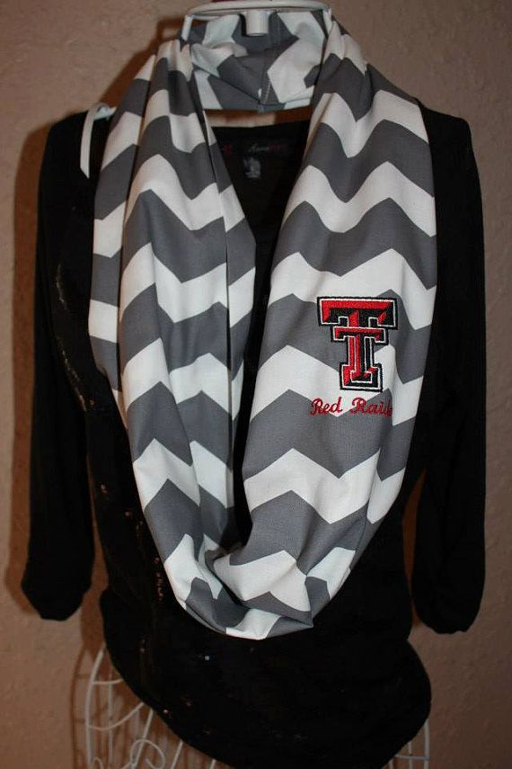 Texas Tech Red Raiders Monogram Chevron by SewSnazzybyBrook, $26.00