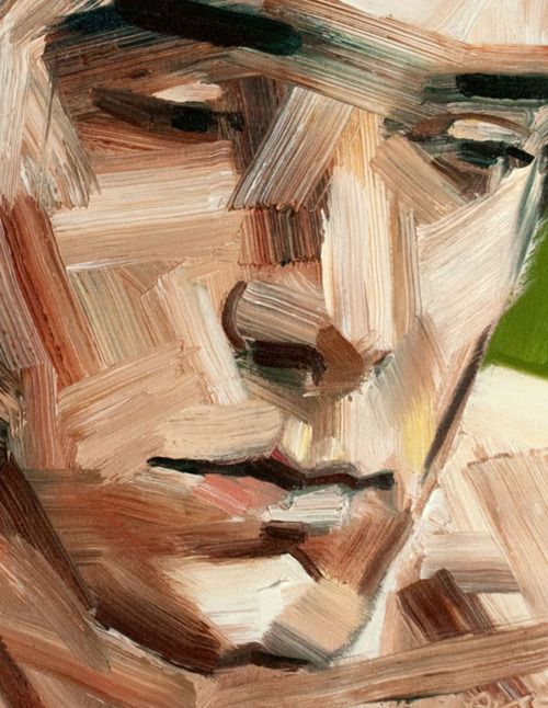 ManPainting Face, Figures Art, The Strokes, Erik Olson, The Face, Brushes Strokes, Contemporary Art, Art Center, Artists Painting Together